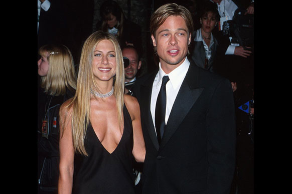 With diamonds at her throat and Brad Pitt by her side, Jen had it all in the year 2000.