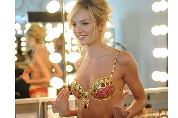Which is probably why she was chosen to wear the VS fantasy bra in the 2013 parade.