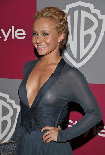 It's lucky Hayden Panettiere wore nipple covers to the Golden Globes after party in 2011, 'cos we don't think she realised her dress was see-through…