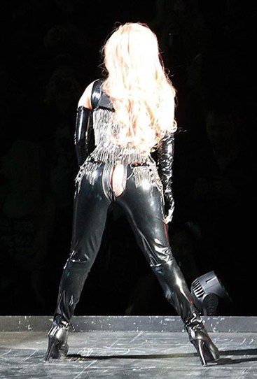 Lady Gaga's latex pants split when performing on her tour in Vancouver, Canada last year.