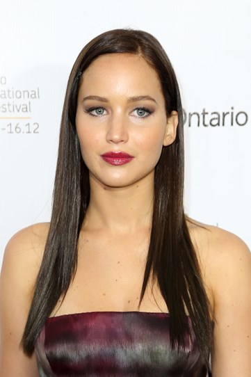 This uber sleek and straight look at the Silver Linings Playbook premiere shows she really can pull off anything when it comes to hair and beauty.