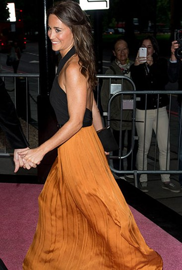 At Boodles Boxing Ball in September last year, Miss Middleton opted for a less, er, fitted dress.