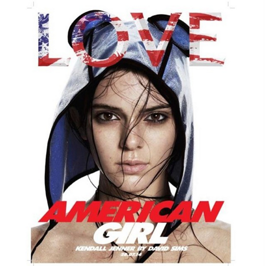 the mysterious collaboration between Kendall Jenner and LOVE editor Katie Grand last Fashion Week has finally been revealed! The young model looks stunning in just a hooded cap on the latest cover of British fashion title LOVE.